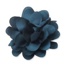 5cm Small Rose NAVY GREEN Fabric Flower Applique